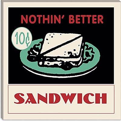 iCanvas Sandwich Vintage Advertisement on Wrapped Canvas; 18'' H x 18'' W x 1.5'' D
