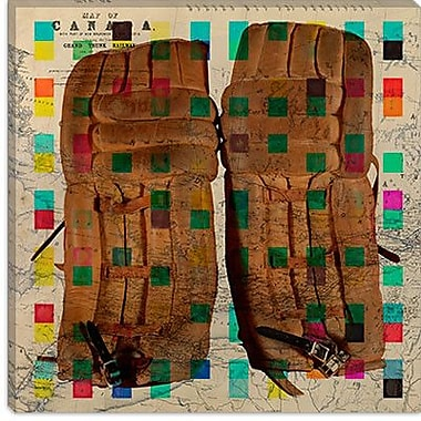 iCanvas Canada Vintage Hockey Goalie Pads #2 Graphic Art on Canvas; 18'' H x 18'' W x 0.75'' D