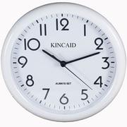 Kincaid Clocks 10'' Always Set Wall Clock; White