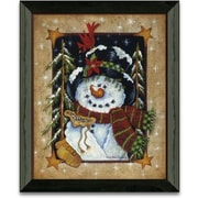 Timeless Frames Feeding The Birds Winter and Holiday by Mary Ann June Framed Graphic Art