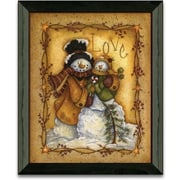 Timeless Frames Snow Folk Love Christmas Holiday by Mary Ann June Framed Graphic Art