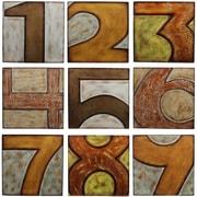 Privilege Wood Numbered 9 Piece Textual Art Plaque Set