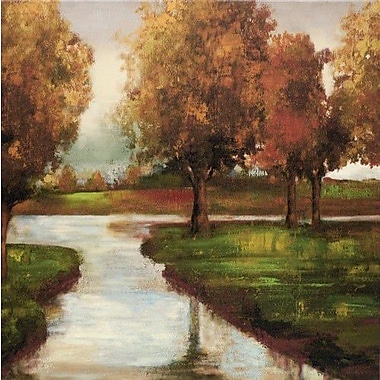 North American Art 'Dusk or Dawn' by Asia Jensen Painting Print on Wrapped Canvas