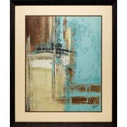 North American Art 'Oxido on Teal II' by Patricia Pinto Framed Graphic Art