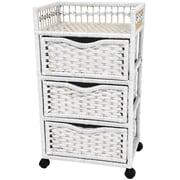 Oriental Furniture 3-Drawer Storage Chest; White