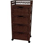 Oriental Furniture 4-Drawer Storage Chest; Mocha