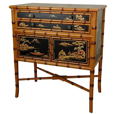 Oriental Furniture Ching 2 Drawer Accent Cabinet