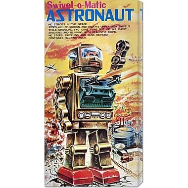 Global Gallery 'Swivel-o-Matic Astronaut' by Retrobot Vintage Advertisement on Wrapped Canvas