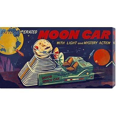 Global Gallery 'Moon Car' by Retrobot Vintage Advertisement on Wrapped Canvas