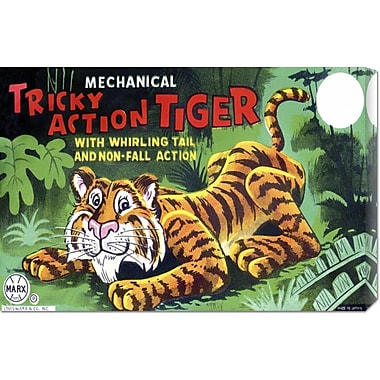 Global Gallery 'Tricky Action Tiger' by Retrobot Vintage Advertisement on Wrapped Canvas