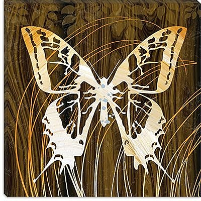 iCanvas ''Butterflies & Leaves I'' by Erin Clark Graphic Art on Canvas; 18'' H x 18'' W x 1.5'' D