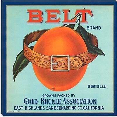 iCanvas Belt Brand OrangesCrate Label Vintage Advertisement on Canvas; 37'' H x 37'' W x 1.5'' D