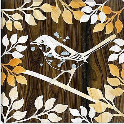 iCanvas Decorative ''Birdie'' by Erin Clark Graphic Art on Canvas; 18'' H x 18'' W x 1.5'' D