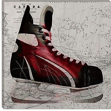 iCanvas Canada Hockey Ice Skates #4 Graphic Art on Canvas; 18'' H x 18'' W x 0.75'' D