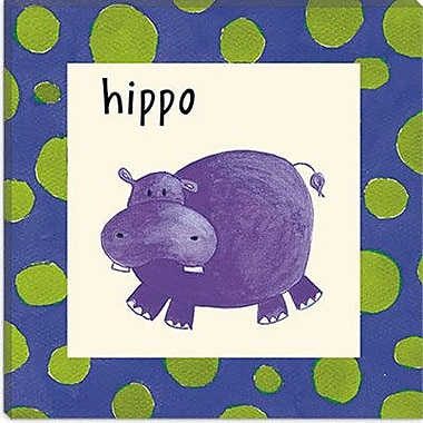 iCanvas Hippo from Esteban Studio Graphic Art on Canvas; 12'' H x 12'' W x 0.75'' D