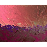 Carlyle Fine Art Abstract Peach Strokes by Jordan Carlyle Graphic Art; 54'' x 72''