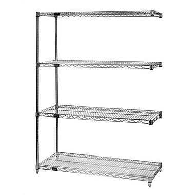 Quantum Small Q-Stor Chrome Wire Shelving Add-On Unit; 12'' x 48'' x 74''