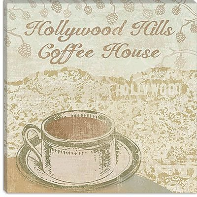 iCanvas 'Hollywood Coffee House' by Erin Clark Vintage Advertisement on Canvas