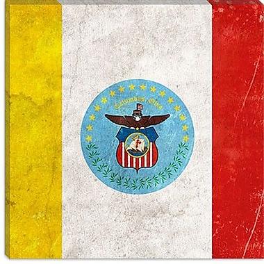 iCanvas Columbus Flag, Lomo Film Grunge Painting Print on Canvas; 26'' H x 26'' W x 0.75'' D