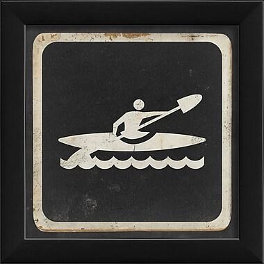 The Artwork Factory Sign Kayaking Framed Graphic Art