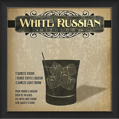 The Artwork Factory White Russian Mixology Framed Graphic Art