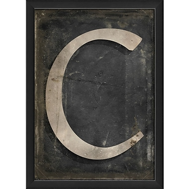 The Artwork Factory Letter C Framed Textual Art