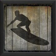 The Artwork Factory Surfer VII Framed Graphic Art in Black and Gray