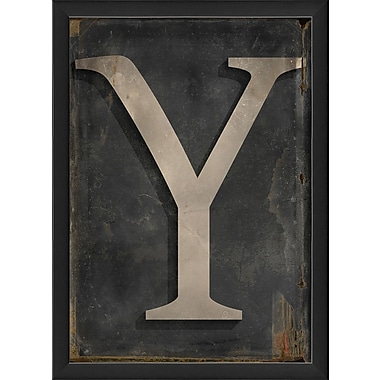 The Artwork Factory Letter Y Framed Textual Art