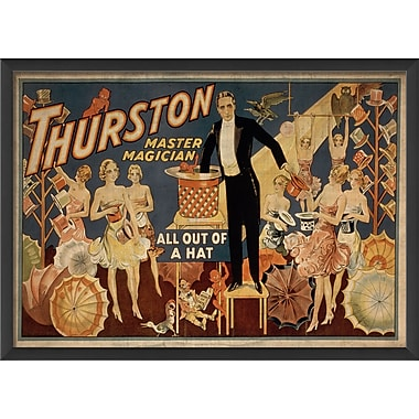 The Artwork Factory Thurston Master Magician Framed Vintage Advertisement