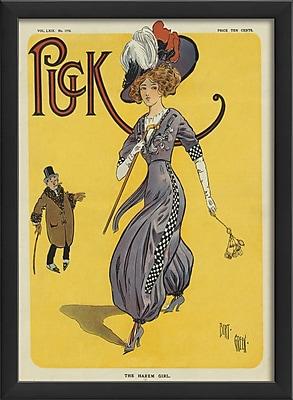 The Artwork Factory Puck The Harem Girl Framed Vintage Advertisement