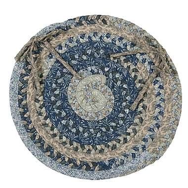Colonial Mills Print Party Ovals Dining Chair Cushion (Set of 4); Denim Wash