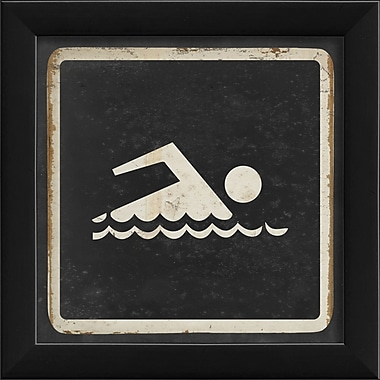 The Artwork Factory Sign Swimming Framed Graphic Art