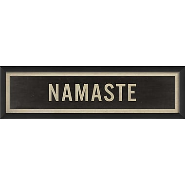 The Artwork Factory Sign Namaste Framed Textual Art