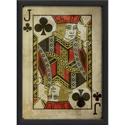 The Artwork Factory Jack of Clubs Framed Graphic Art