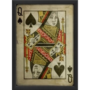 The Artwork Factory Queen of Spades Framed Graphic Art
