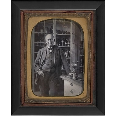 The Artwork Factory Tintype Photographs Thomas Edison Framed Photographic Print