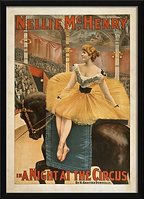 The Artwork Factory A Night at the Circus Framed Vintage Advertisement