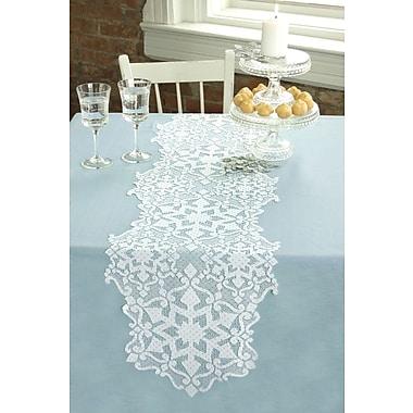 Heritage Lace Glisten Table Runner; 68'' W x 14'' L