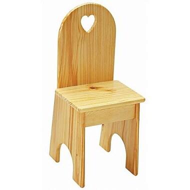 Little Colorado Heart Kids Desk Chair; Honey Oak