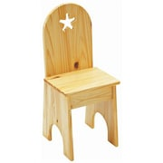Little Colorado Star Kids Desk Chair; White