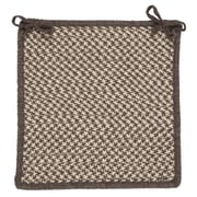 Colonial Mills Natural Wool Houndstooth Dining Chair Cushion; Espresso