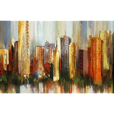North American Art 'Metropolis' by Tom Reeves Painting Print on Wrapped Canvas