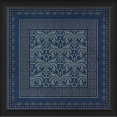 The Artwork Factory Tile 2 Framed Graphic Art; Blue