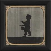 The Artwork Factory Little Boy Painting Framed Graphic Art