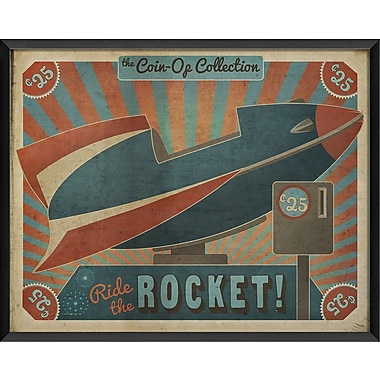 The Artwork Factory Coin Operated Rocket Framed Vintage Advertisement
