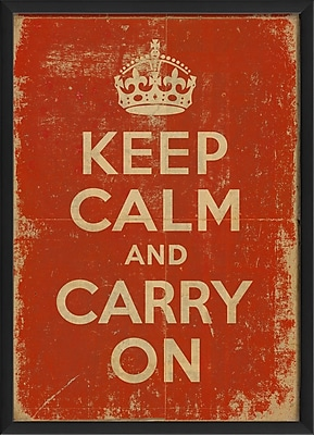 The Artwork Factory Keep Calm and Carry On Framed Textual Art