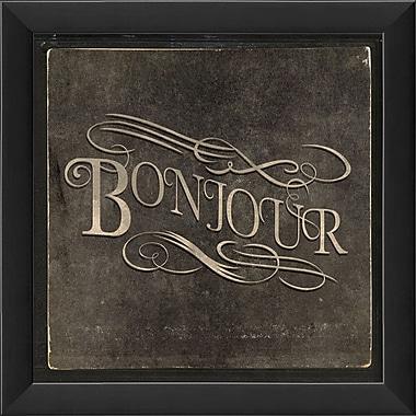 The Artwork Factory French Phrases Bonjour Framed Textual Art