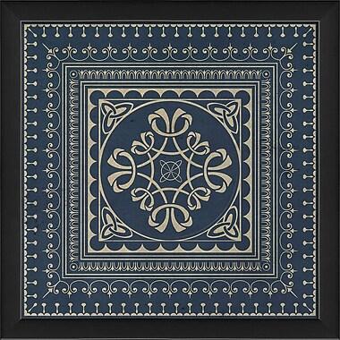The Artwork Factory Tile 3 Framed Graphic Art; Blue