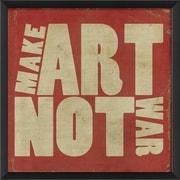 The Artwork Factory Make Art Not War Framed Textual Art; Red
