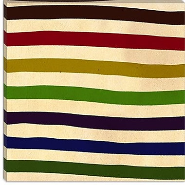 iCanvas Modern Earn Your Stripes Graphic Art on Canvas; 26'' H x 26'' W x 1.5'' D